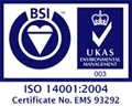ISO 14001:2004 Accredited
