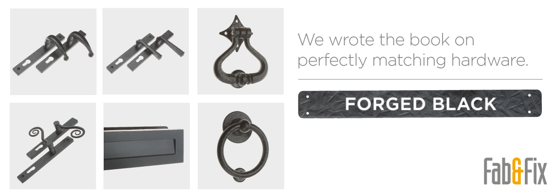 Fab&Fix Forged Black Door Hardware