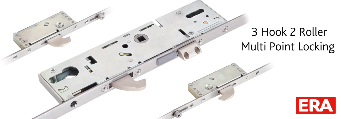 ERA 3 Hook 2 Roller Multi Point Door Lock