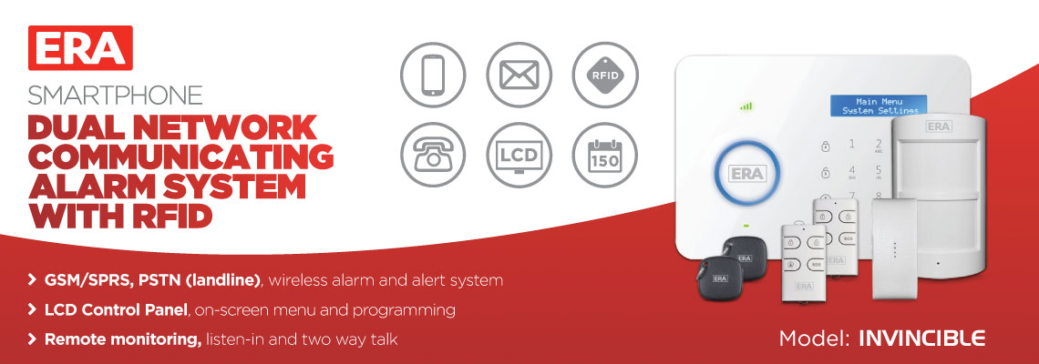 Invincible Smartphone Dual Network Communicating Alarm System with RFID