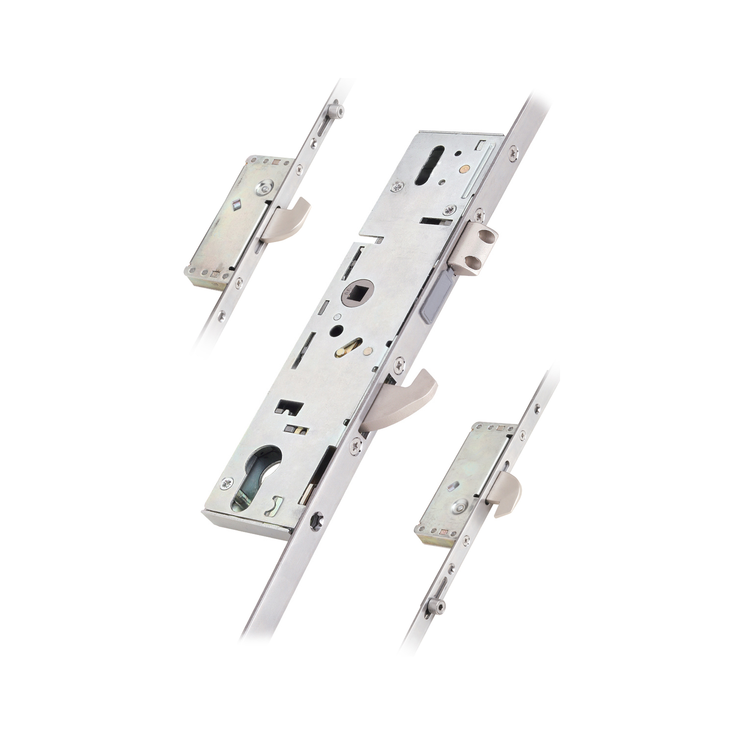 3 Hook 2 Roller Euro Cylinder Multi Point Door Lock - 6000 Series