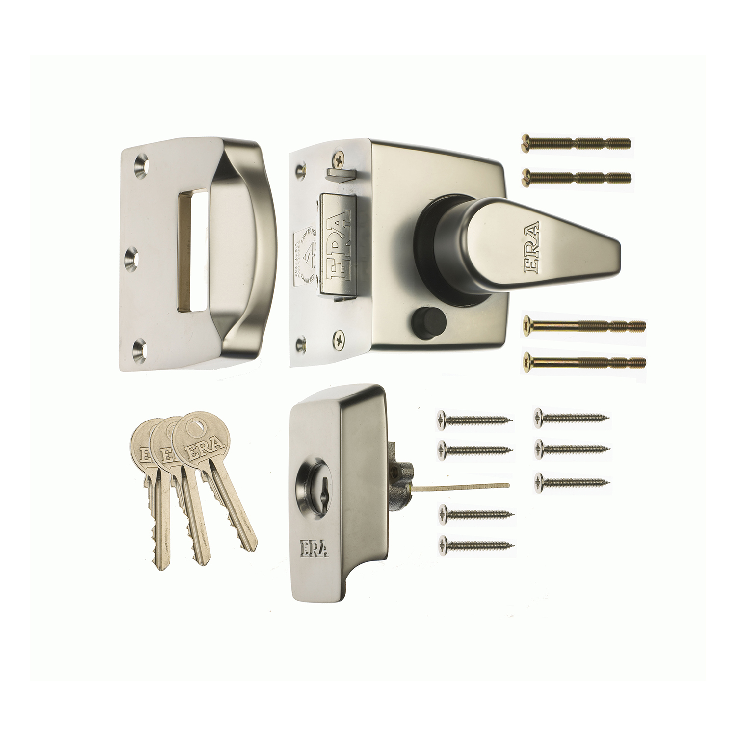 British Standard Keyless Egress Nightlatch Door Lock