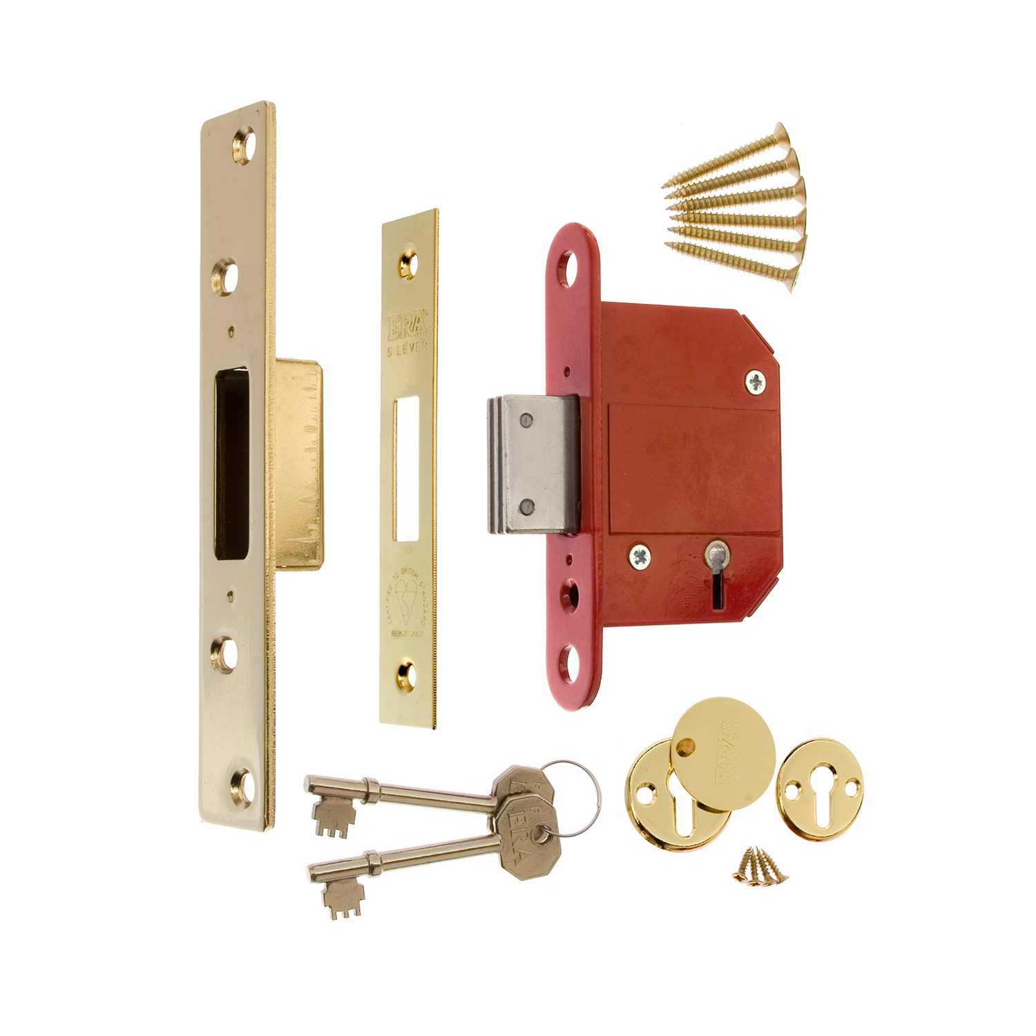 BS3621 Fortress 5 Lever Mortice Deadlock