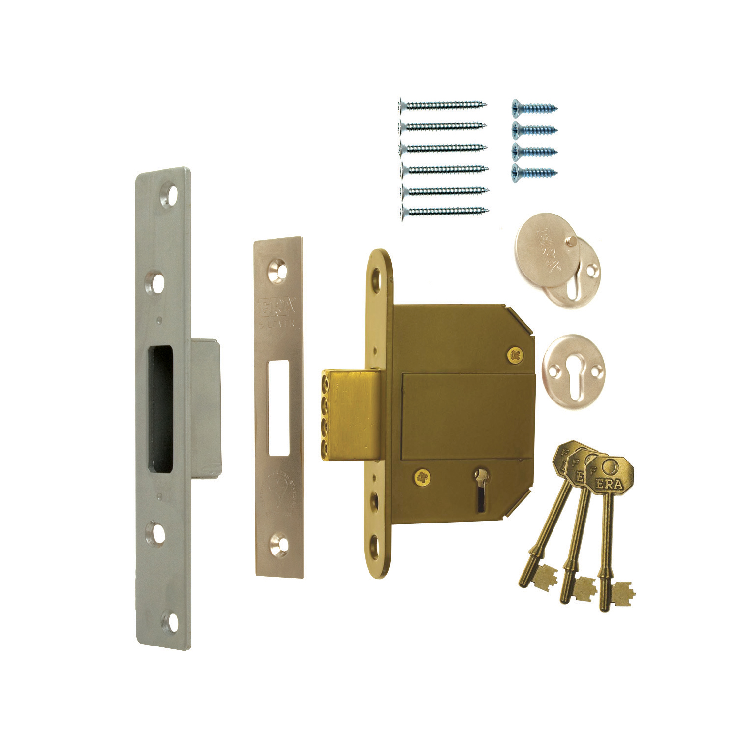 BS3621 Fortress Classic 5 Lever Mortice Deadlock