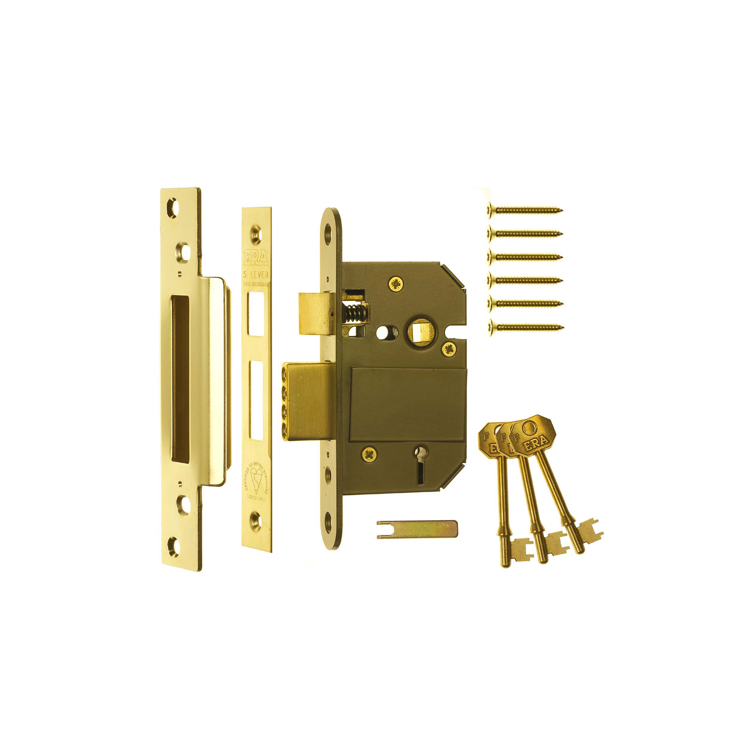 BS3621 Fortress Classic 5 Lever Mortice Sashlock
