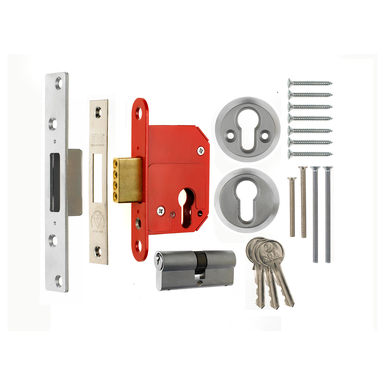 BS3621 Fortress Euro Mortice Sashlock