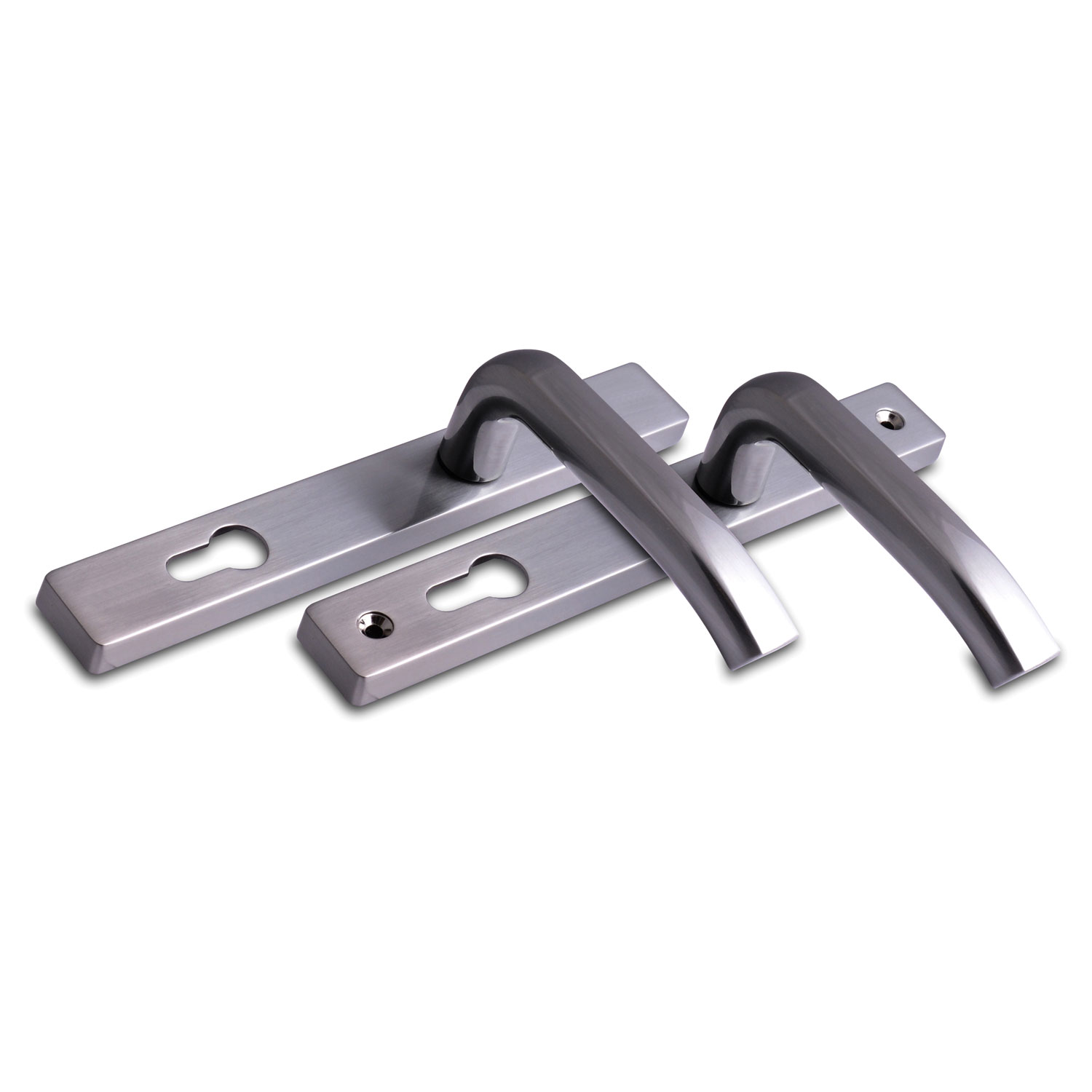 Architectural Sprung Inline Lever Lever Door Handle